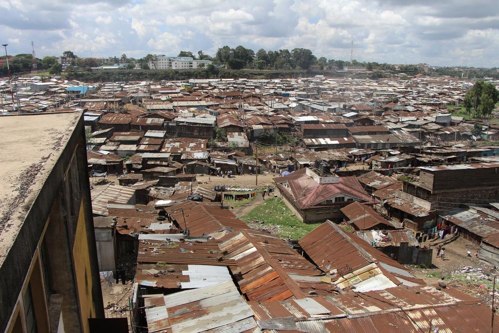 Nairobi's Mathare slum.