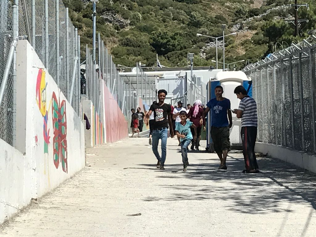 Asylum seekers are forced to live in dire conditions at the reception and identification center on the island of Samos, Greece.