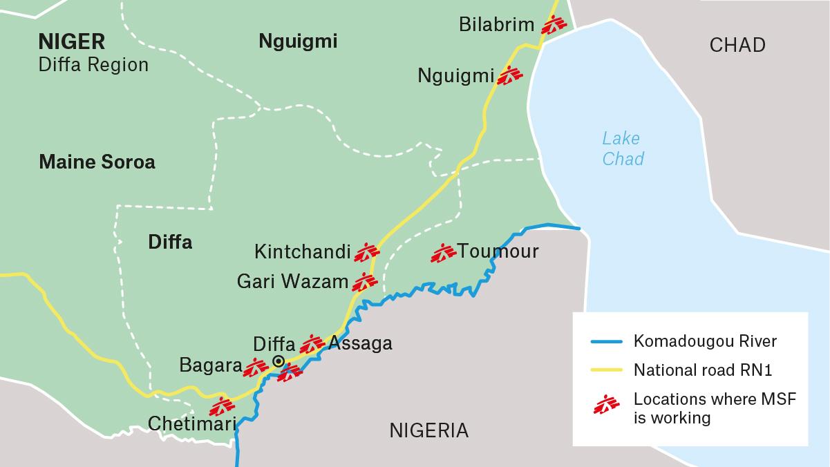 MSF Niger Diffa map