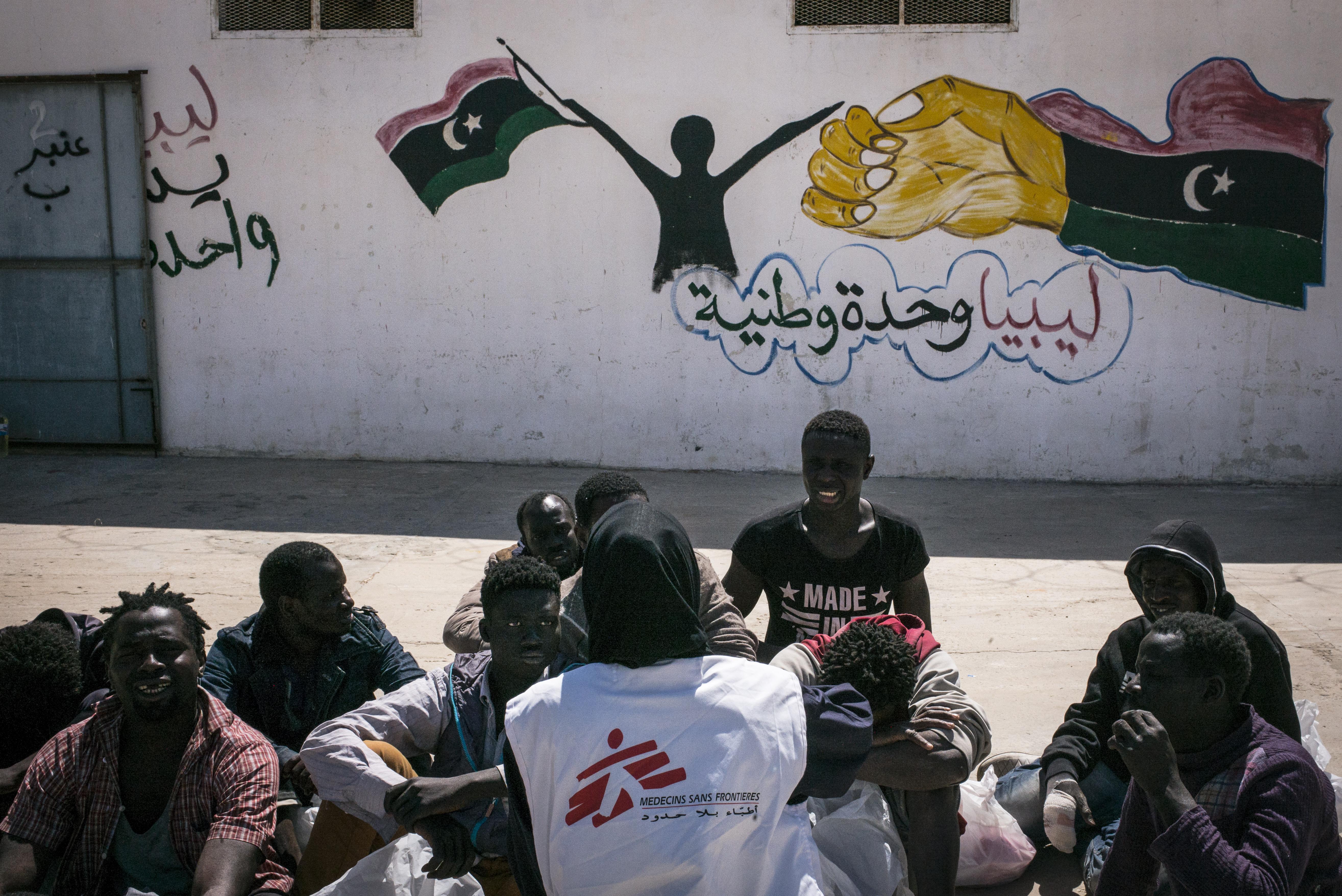 Libya migrant refugee detainee detention