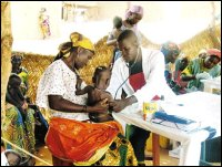 Physician Checking a Child