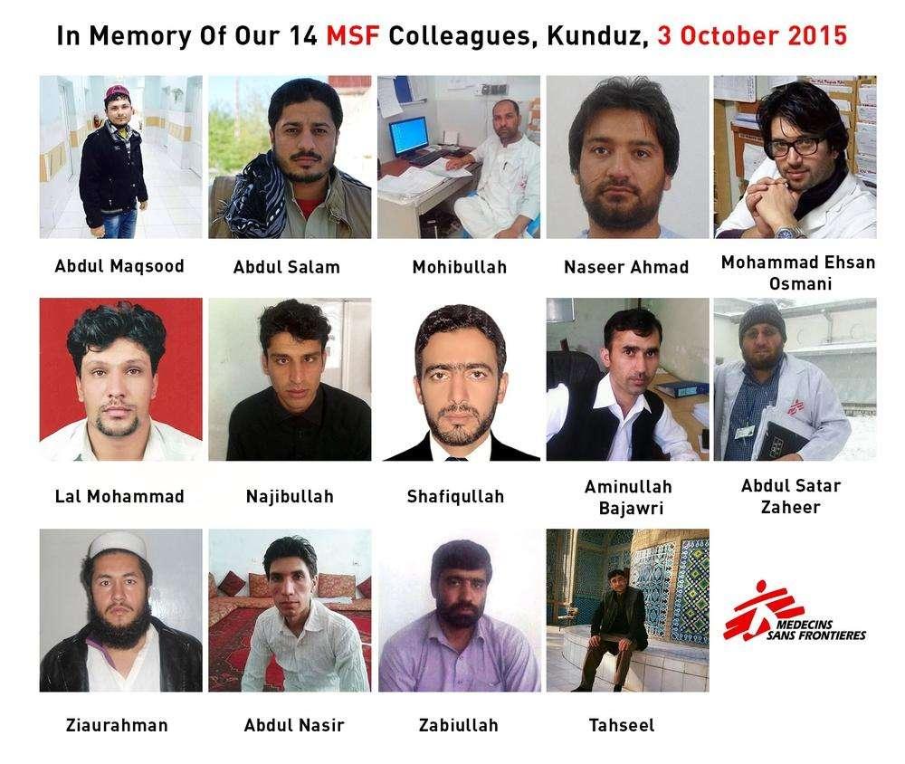 In Memoriam: MSF Colleagues Killed in the Kunduz Trauma Hospital