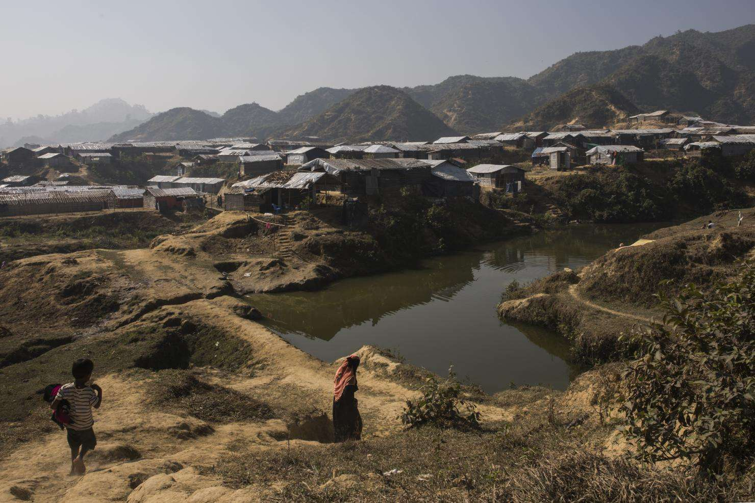 A view of the refugee settlement expansion near Nayapara camp, Bangladesh.