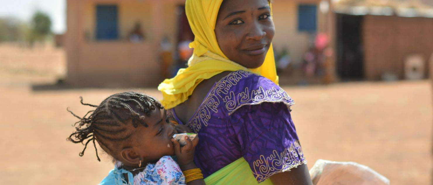A mother and child who received MSF health care in Bouza district, Niger