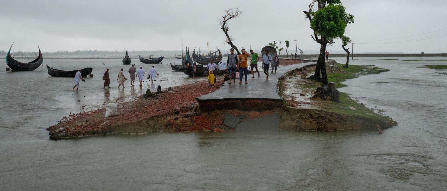 Monsoon Rains Hit Rohingya Refugee Camps