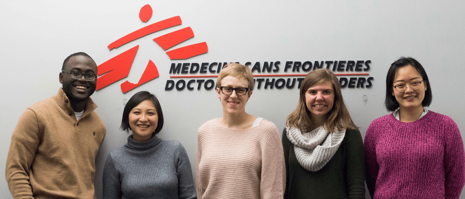 interns in the MSF-USA offfice