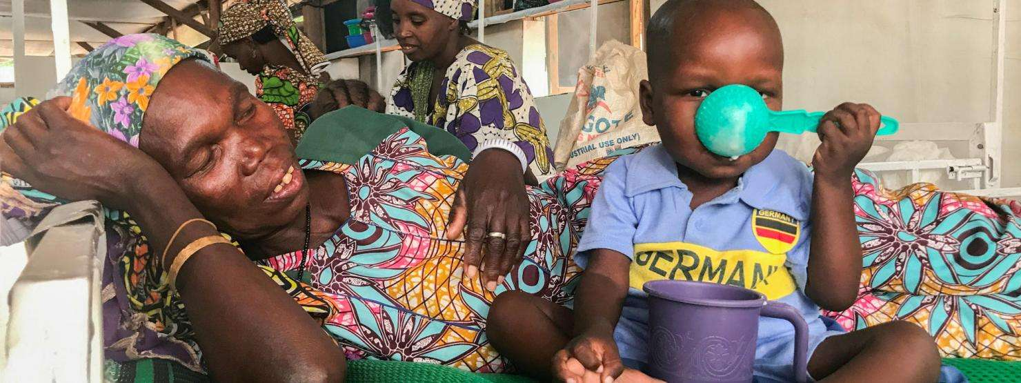 Three-year-old Mohammed Sani was treated for malnutrition at Magaria district hospital in Niger's Zinder region.