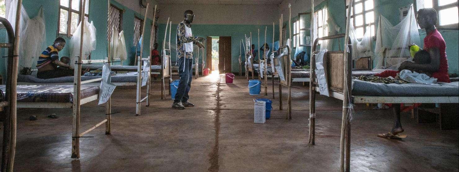 Measles intervention in Boso Manzi, DRC