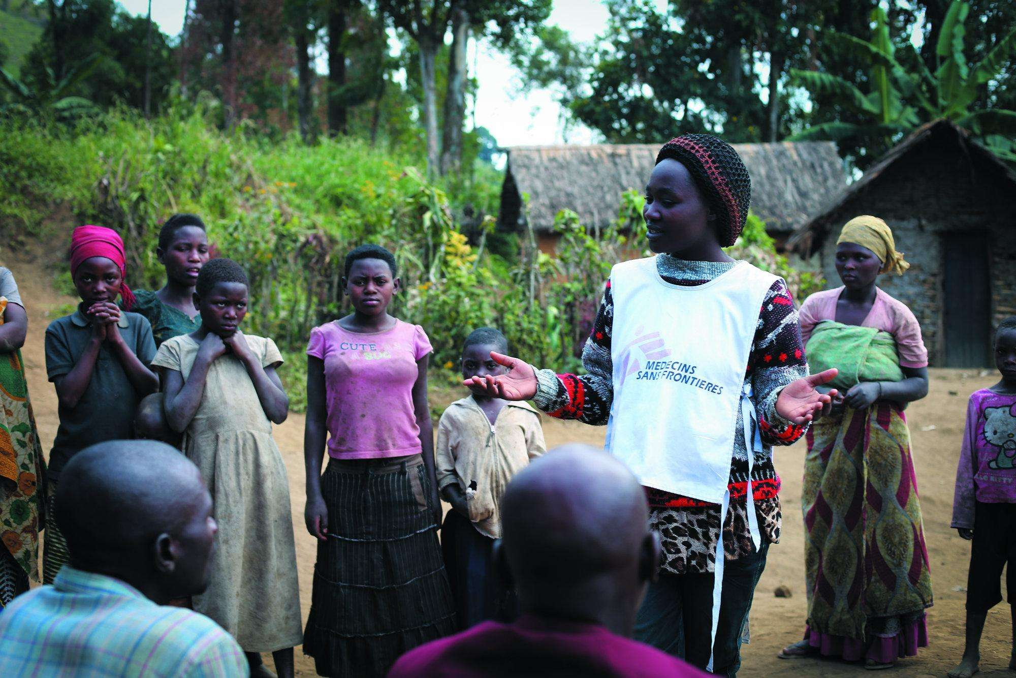 A health educator talks about family planning in Mpanamo village