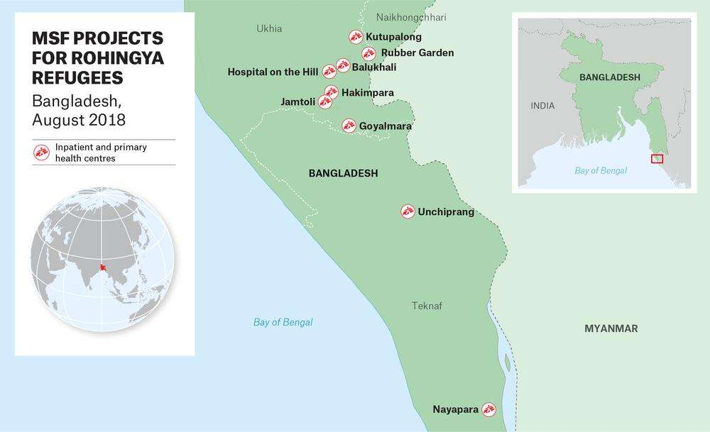 MSF Treated More Than 6442 People For Diphtheria In Coxs Bazar District By The End Of June 2018