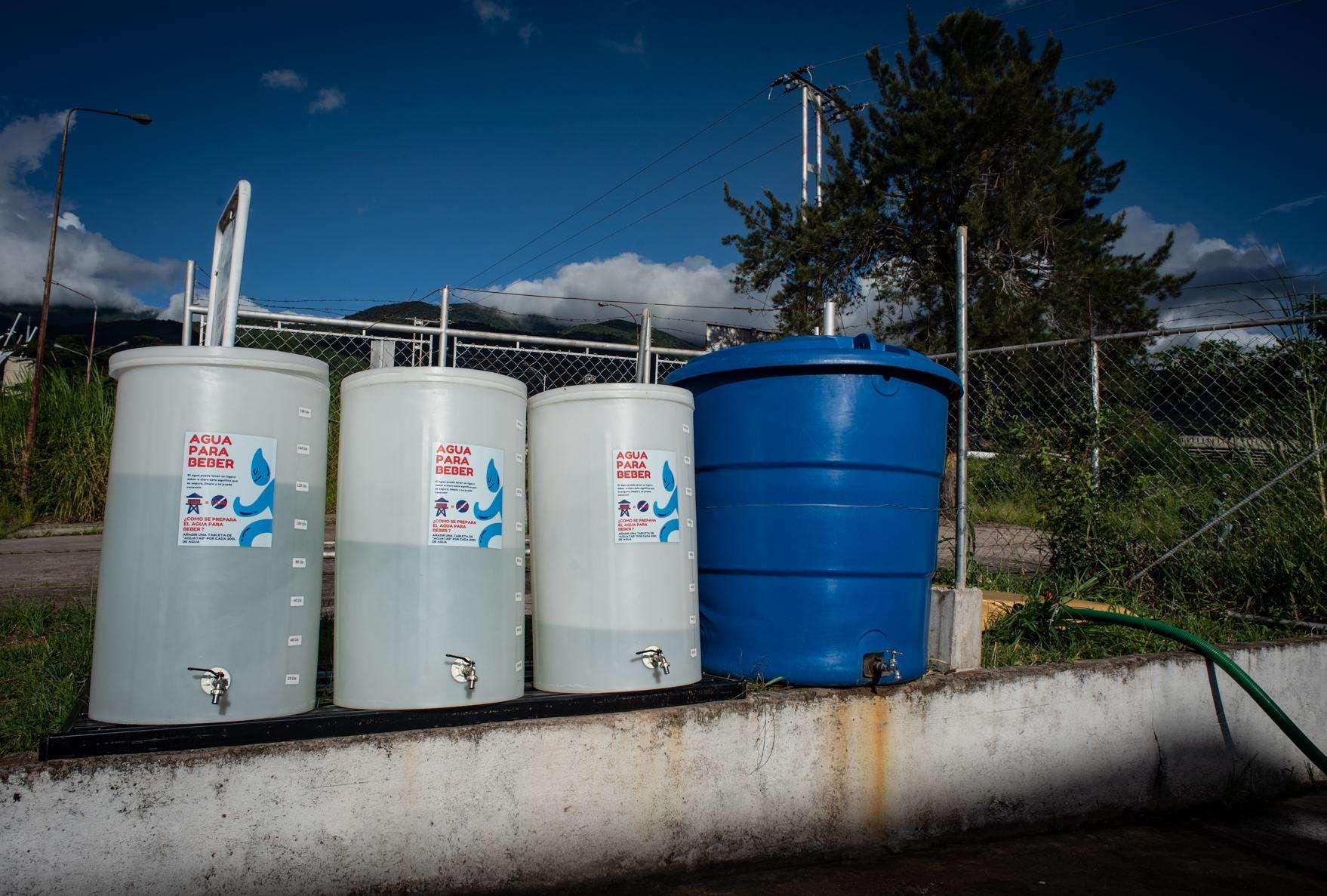 water treatment center at quarantine center in Venezuela