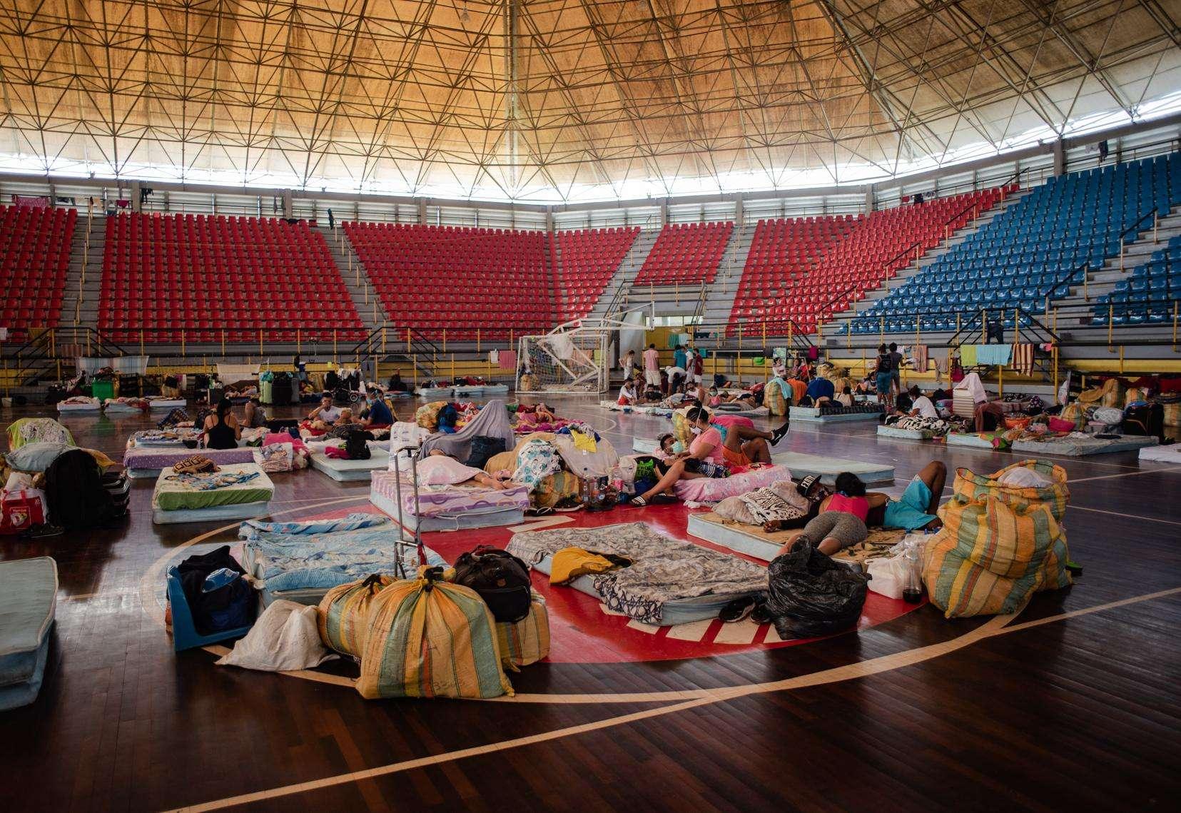Inside of a quarantine center in Táchira, Venezuela