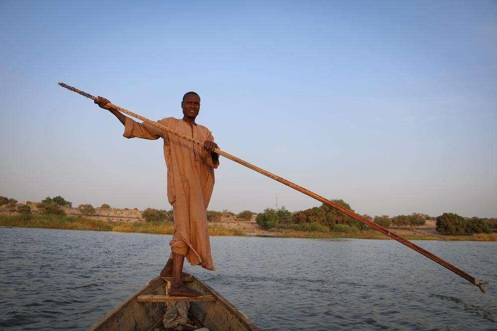 Mahamat Adam, married and a father of eight, has been a fisherman for 25 years.
