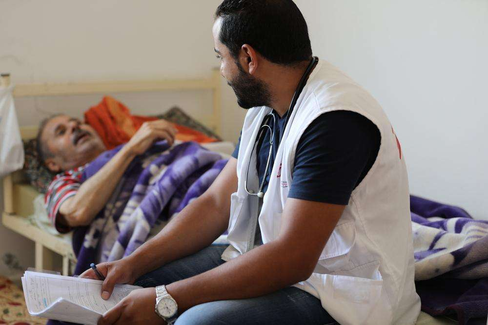 In Irbid, Jordan, MSF runs a home visit program for patients with chronic diseases, mostly Syrian refugees.