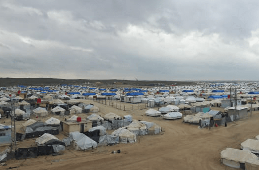 A view of Al Hol camp.