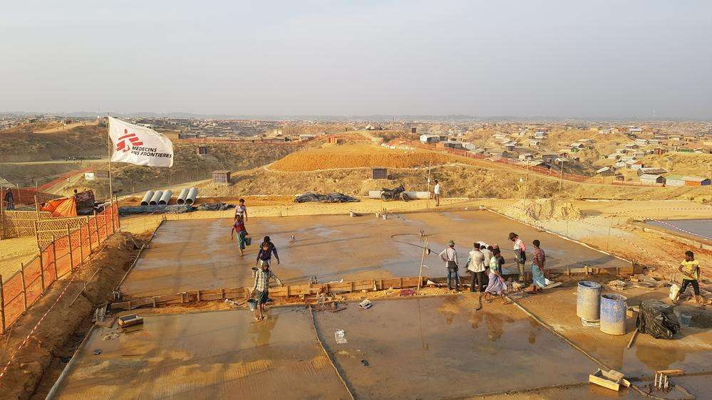 MSF builds a new hospital for Rohingya refugees in Kutupalong-Balukhali camp, Cox's Bazar, Bangladesh
