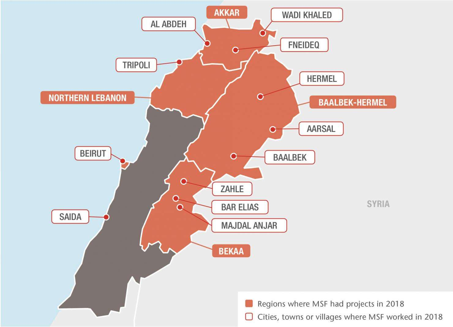 MSF projects in Lebanon, 2018 - EN