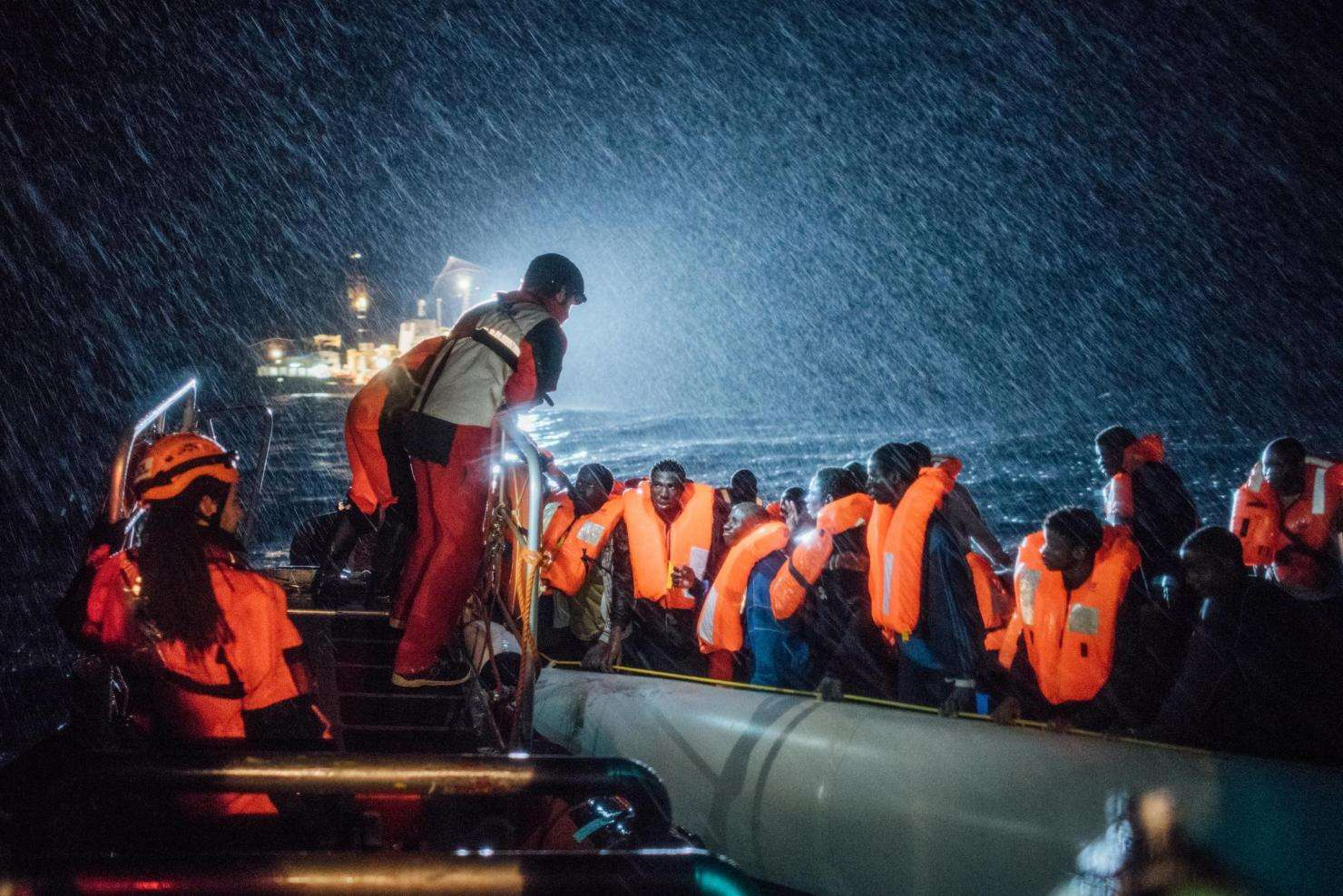 Aquarius Search and Rescue in the Mediterranean: Winter conditions and high seas