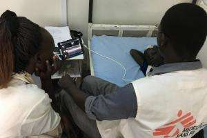 An ultrasound in Malakal, South Sudan