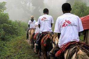 MSF teams travel on horseback in the Mejo Woredas (division) in the Sidama Zone of Ethiopia.