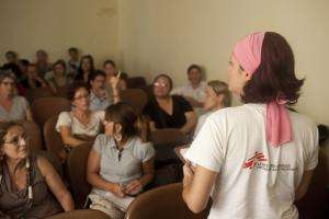 An MSF psychologist trains a group of local psychologists in Nova Friburgo, Rio de Janeiro