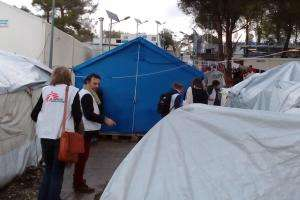 DG Meinie Nicolai and DO Bertrand Perrochet visit to MSF mission in Greece