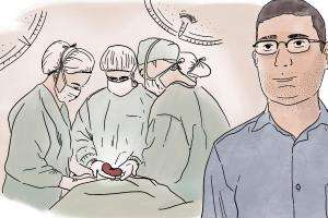 Kidney transplant in Syria illustration