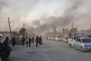 Emergency North East Syria: Civilians Fleeing Offensive Ras al-Ain