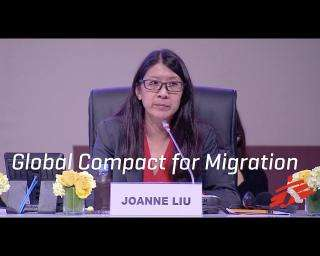 """Migration is not a crime"" MSF president speaks at Global Compact for Migration Conference"