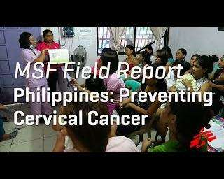 MSF and local NGO tackle cervical cancer in Philippines