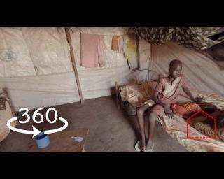 "360 Video: ""We left home empty-handed"" - displaced in South Sudan"