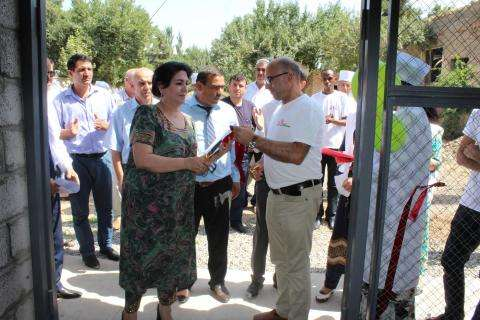 Opening of a new waste centre, constructed by MSF, in Kulob, Tajikistan