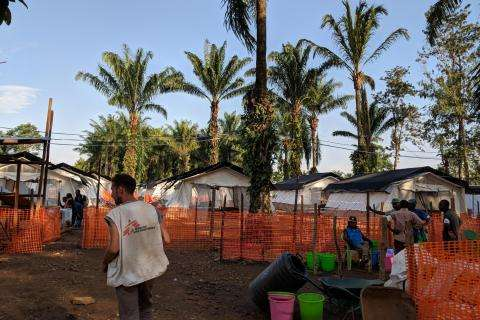 Ebola Treatment Center (ETC) in Mangina