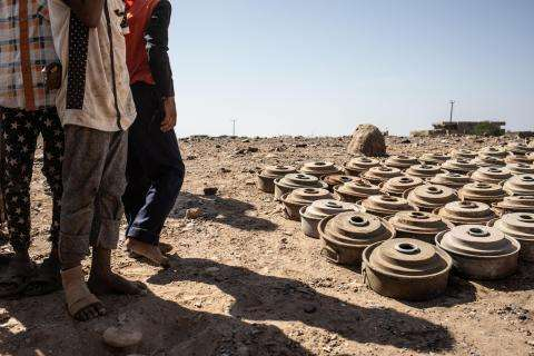 Land mines in Taiz and Hodeidah governorates