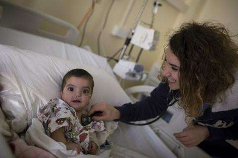 MSF operates free pediatric services in Zahle, a city in the Bekaa Valley where 500,000 Syrian refugees live.